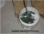 Sealant mixing in process smaller